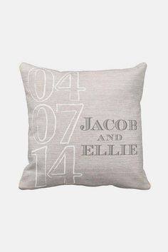 Personalized Wedding Gift Pillow Cover Cotton