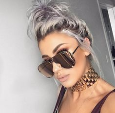 Lolaliner wearing quayaustralia x desiperkins sunglasses Beauty Makeup, Hair Makeup, Hair Beauty, Baddie Makeup, Hair Inspo, Hair Inspiration, Shady Lady, Cute Hairstyles, Hair Trends