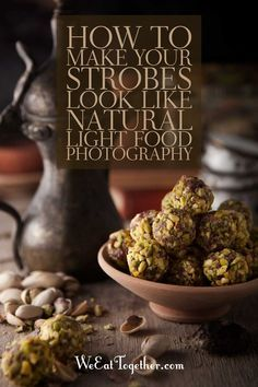 ​I love shooting with natural light, but when the light is gone here is how you can use your strobes or artificial light to match natural light food photography