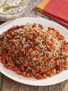 Timman Jazar /Rice with carrots, meat and spices from The Iraqi Cookbook by Lamees Ibrahim. Photograph: Terry McCormick/Stacey International #comfortfood
