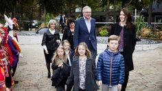 Princess Mary, Prince Christian and Princess Isabella with some friends attend the theater 10/5/13
