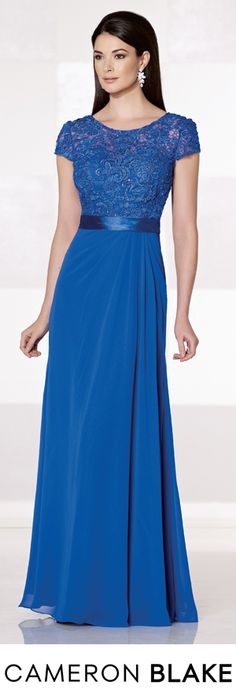 Cameron Blake Fall 2015 - Style No. 215625 Royal Blue Evening Gown cameronblake.com #motherofthebridedresses #eveninggowns