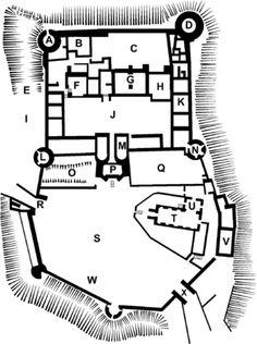 106 Best Castle Floorplans Images Medieval Castle