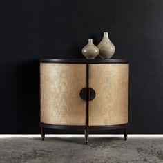 Hooker Furniture Melange Em Demilune Accent Chest Console Table - 638-85314-GLD