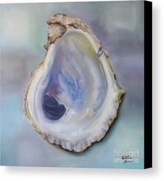 Oyster Shell Canvas Print by Kristine Kainer. All canvas prints are professionally printed, assembled, and shipped within 3 - 4 business days and delivered ready-to-hang on your wall. Choose from multiple print sizes, border colors, and canvas materials. Canvas Art, Canvas Prints, Art Prints, Canvas Ideas, Louisiana Art, Louisiana Kitchen, Seashell Painting, Painted Shells, Oyster Shells