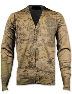 Lord of the Rings map cardigan. Yep.