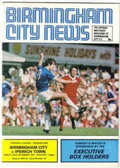 Birmingham City v Ipswich Town Football Programme 1st Division 22/12/1978