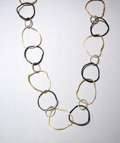 Suzanne Q. Evon Oxidized Shimmer Necklace