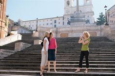 All smiles on the Spanish Steps in Rome! #travel #cruise. Royal Caribbean Cruise Lies. Contact rick@rlstravel.com for more information and to book that cruise.