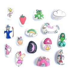 Story Stones General mix 1 by LittlebyNature on Etsy Stone Crafts, Rock Crafts, Family Day Care, Story Stones, We Will Rock You, Baby Shop Online, And So The Adventure Begins, Stone Painting, Rock Painting
