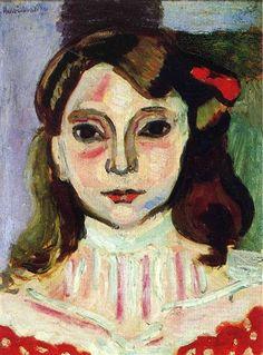 Marguerite Henri Matisse Date: 1906 Style: Fauvism Genre: portrait Dimensions: 24 x 32 cm Location: Marion Smooke Collection