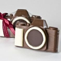 Chocolate 35mm Camera In Box. See the world with this Chocolate wonder. Or you could just eat the thing.