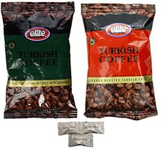 Assorted ELITE Turkish Coffee With Cardamon and Elite Roasted Coffee Includes Our Exclusive HolanDeli Chocolate Mints -- You can find more details by visiting the image link.