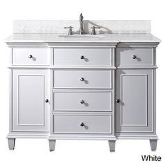 Avanity Windsor 48-inch White Single Vanity | Overstock.com Shopping - The Best Deals on Bath Vanities