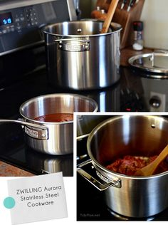 Zwilling Aurora 5-ply 7-pc Stainless Steel Cookware Set ($599) GIVEAWAY at TidyMom.net