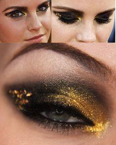 black golden eye makeup