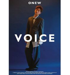Onew // Voice Shinee Onew, Minho, Me Me Me Song, Kpop Groups, Album Covers, The Voice, Singing, Bring It On, Healing