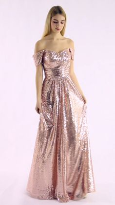 Attractive Shining Sequin Gown Long Sequins Dress with Off the Shoulder Slim Pleated Waistband Dress - Source by schanzerdom - Long Sequin Dress, Sequin Gown, The Dress, Dress Skirt, Godmother Dress, Wedding Dresses For Kids, Brave Girl, Beautiful Prom Dresses, Perfect Body