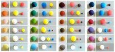 Пропорции смешивания гдины для получения нужного цвета