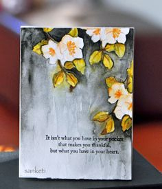 The Storyteller: Thankful watercolor card