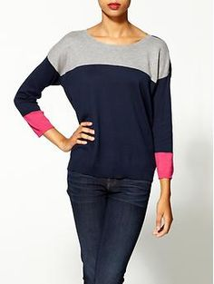 I am obsessed with color blocking Michael Stars Color Block Sweater | Piperlime
