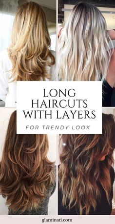 Long Haircuts With Layers For Trendy Look 20 Quick And Easy Hairstyles For Long Hair 2020 Haircuts For Long Hair With Layers, Long Layered Haircuts, Haircut For Thick Hair, Layered Hairstyles, Long Haircuts For Women, Long Hair Haircuts, Long Hair Short Layers, Layer Haircuts, Long Layered Cuts