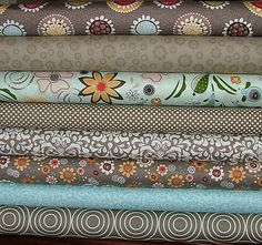 Half Yard Bundle of 8 with Funky Flowers by ADORNit. $36.40, via Etsy.