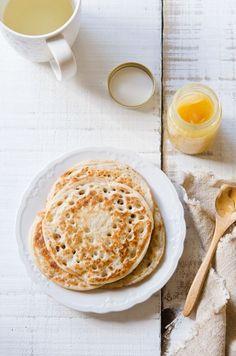 This looks so tasty!!  coconut milk sourdough pancakes