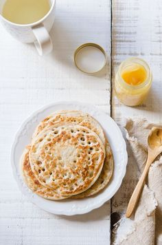 This looks so tasty!!  coconut milk sourdough pancakes