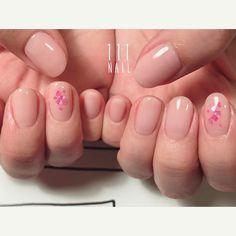 🌸🌸⚪️◽⚪️🌸 #nail#art#nailart#ネイル#ネイルアート#pink#natural#桜#cherryblossom#spring#natural#nudie#ショートネイル#シンプルネイル#nailsalon#ネイルサロン#表参道#nudie111#pink111#シンプル111 (111nail)