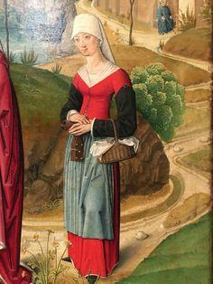 """Ausschnitt aus """"Marienleben"""", Köln, um 1485, Öl auf Eichenholz, im Domschatz zu Aachen"""