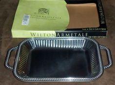 Wilton Armetale Flutes & Pearls 12-Inch by 18-Inch Rectangular Tray #WiltonArmetale