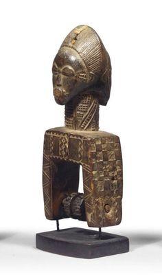POULIE BAOULE Crane, Art Africain, Ivoire, Bookends, African