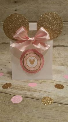 Rosas y oro bolsas inspirados de Minnie por HeidiPartyCreations