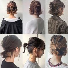 Easy Hairstyles Hairstyles for Long Hair Videos Hairstyles Tutorials Compilation 2019 Long To Short Hair, Braids For Short Hair, Easy Hairstyles For Long Hair, Short Hair Ponytail, Bob Hairstyles How To Style, Styling Short Hair Bob, Style Short Hair, Hairstyle Short, Braid Hairstyles