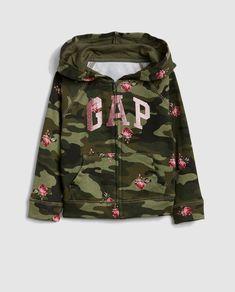 2d8249d86 Sudadera de niña Gap en camuflaje con capucha