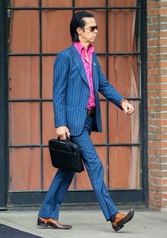 Nick Cave Steps Out in NYC Aug 4, 2014