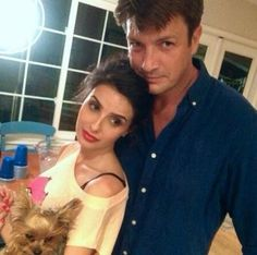 Mikaela Hoover and Nathan Fillion.