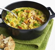 Recipe to try - Slow Cooker creamy veggie korma recipe from BBC Good Food Bbc Good Food Recipes, Indian Food Recipes, Vegetarian Recipes, Healthy Recipes, Slow Cooker Recipes, Cooking Recipes, Slow Cooking, Smoothies, Veggies