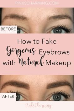 Microblading Before and After : Illustration Description Shaping eyebrows with natural makeup for beginners. Eyebrows shaping tutorial with before and Natural Hair Mask, Natural Makeup, Natural Hair Styles, Natural Beauty, Organic Beauty, Simple Makeup, Eye Makeup, Makeup Tips, Makeup Tutorials