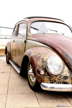 VW always loved #pinstriping on rust #Volkswagen bug (Pin stripe por cima da ferrugem)
