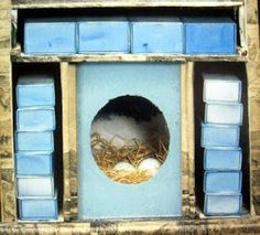 Paul and Virginia) detail of a construction by Joseph Cornell bird nest. Joseph Cornell Boxes, Advanced Higher Art, Box Art, Art Boxes, High Art, Assemblage Art, American Artists, Art Projects, Abstract