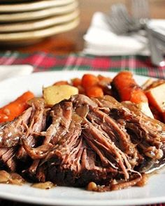 Recipe for Slow Cooker Balsamic Pot Roast - I prefer to cook my pot roasts in the slow cooker, Ah, the smell was amazing when I walked in the door that night.