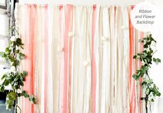 5 DIY Backdrops For Your Photo Booth, Ceremony and Reception! | Photo by: Photo: Melissa Lin Ellis | TheKnot.com