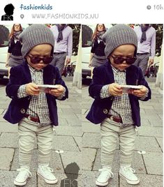 Not crazy about boy skinnies, but this lil man is adorable... Too cute!!