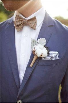 cotton boutonniere