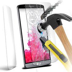 ( Pack Of 1 ) LG G3 Protections d'écran en verre trempé Crystal Clear LCD Packs Avec Chiffon & Demande de carte par ONX3