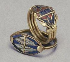 Anéis flores de lótus (1.440 – 1.220 a.C) Egito