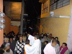 Unidos en comunidad celebrando el 4° día del novenario a la virgen de Guadalupe.