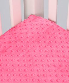 Another great find on #zulily! Fuchsia Minky Fitted Crib Sheet #zulilyfinds